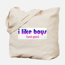 i like boys and girls Tote Bag
