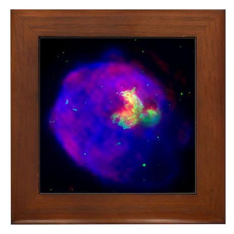Supernova Remnant Framed Tile