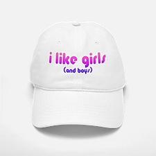 i like girls and boys Baseball Baseball Cap
