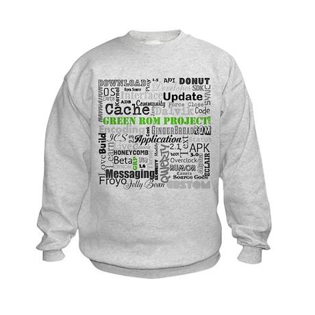 Android Word Cloud Kids Sweatshirt