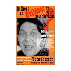 Evildoer neighbors 11x17 poster