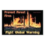 Forest Firest Global Warming Sticker