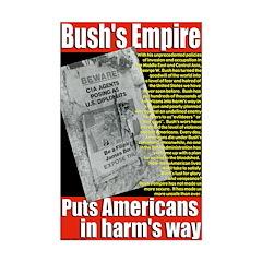 Bush's Empire 11x17 anti-war poster