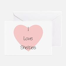 I Love Shelties Greeting Cards (Pk of 10)