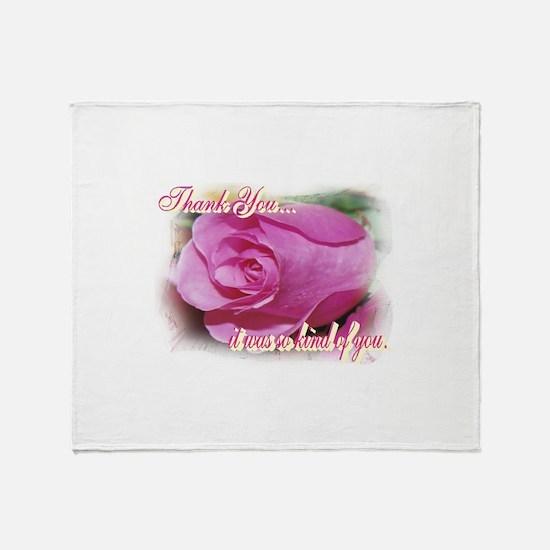 Rose Bud Thank You Throw Blanket