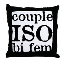 couple iso bi fem Throw Pillow