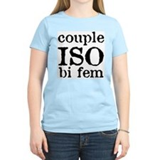couple iso bi fem Women's Pink T-Shirt
