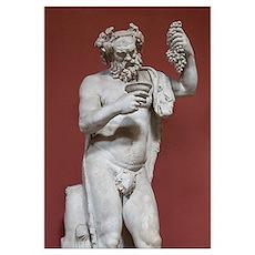Silenus, Roman god of wine Poster