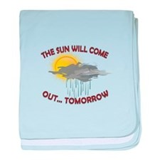 The Sun Will Come Out baby blanket