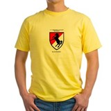 11th acr Mens Yellow T-shirts