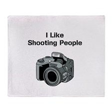 I like shooting people. Throw Blanket