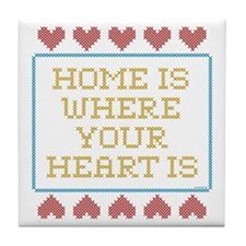 Where Your Heart Is Tile Coaster