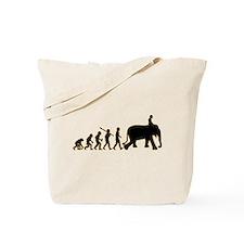 Elephant Riding Tote Bag