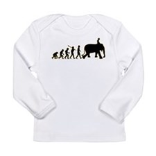 Elephant Riding Long Sleeve Infant T-Shirt