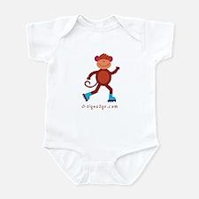 Monkey Skating Infant Bodysuit