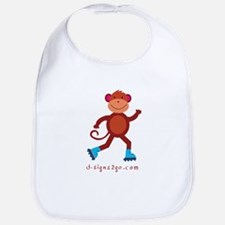 Monkey Skating Bib