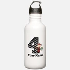 4th Birthday Pirate Water Bottle