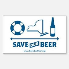 Save Our Beer! Decal