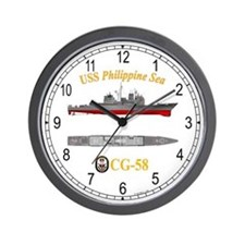 USS Philippine Sea CG-58 Wall Clock