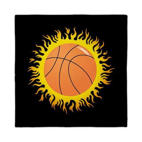 Flaming Basketball Queen Duvet