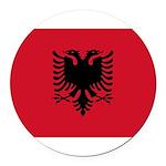 Albania.jpg Round Car Magnet