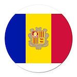 Andorra.jpg Round Car Magnet