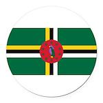 Dominica.jpg Round Car Magnet