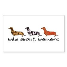 Wild About Weiners Rectangle Decal
