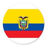 Ecuador.jpg Round Car Magnet