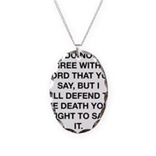 Your Right To Say It Necklace