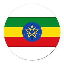 Ethiopia.jpg Round Car Magnet