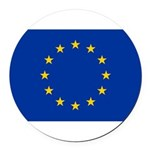 European Union.jpg Round Car Magnet
