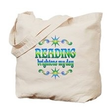 Reading Brightens Days Tote Bag