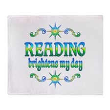 Reading Brightens Days Throw Blanket