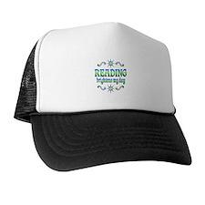 Reading Brightens Days Trucker Hat
