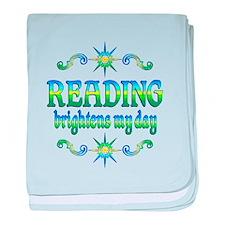 Reading Brightens Days baby blanket