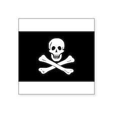 "Jolly Roger.jpg Square Sticker 3"" x 3"""