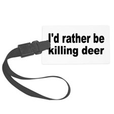 Cute Deer hunting Luggage Tag