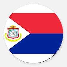 Sint Maarten.jpg Round Car Magnet