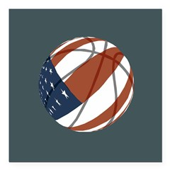 American Basketball Square Car Magnet 3
