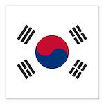 South Korea.jpg Square Car Magnet 3