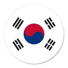 South Korea.jpg Round Car Magnet