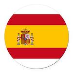 Spain.jpg Round Car Magnet