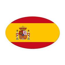 Spain.jpg Oval Car Magnet