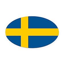 Sweden.jpg Oval Car Magnet