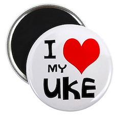 I Love My Ukulele Magnet
