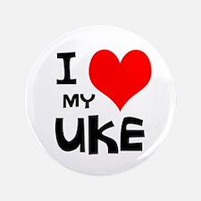 """I Love My Ukulele 3.5"""" Button"""