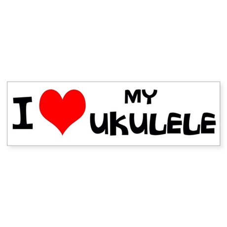 I Love My Ukulele Sticker (Bumper)