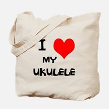 I Love My Ukulele Tote Bag