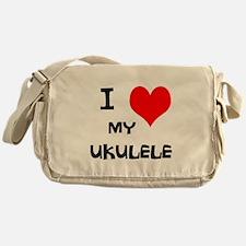 I Love My Ukulele Messenger Bag